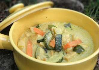 Kokosmjölksbryta med quorn och grönsaker