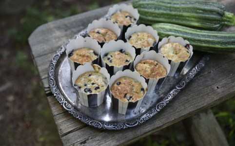 Muffins med zucchini Farbror Grön