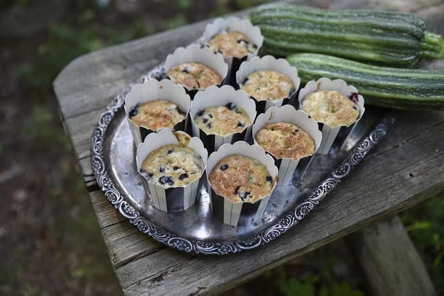 Muffins med zucchini