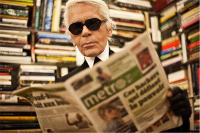 Karl Lagerfeld, Metro