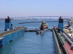 HMS-Gotland på Eide-Transporter