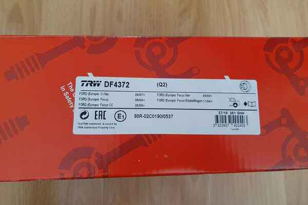 Комплект тормозных дисков TRW - Продам