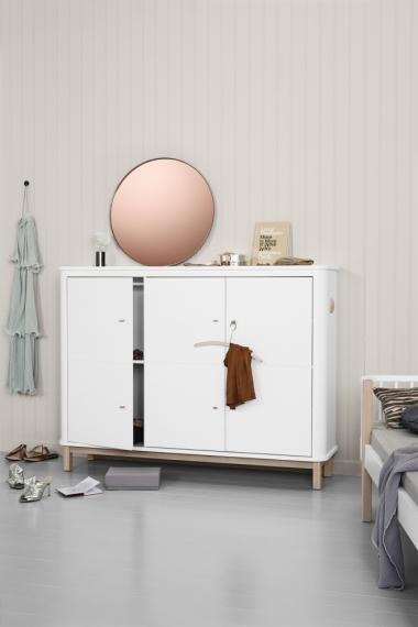 armoire basse 3 portes wood oliver