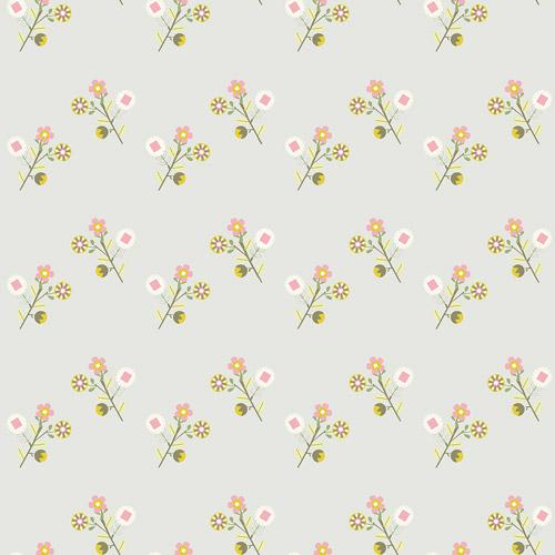 le de papier peint fleurs vintage