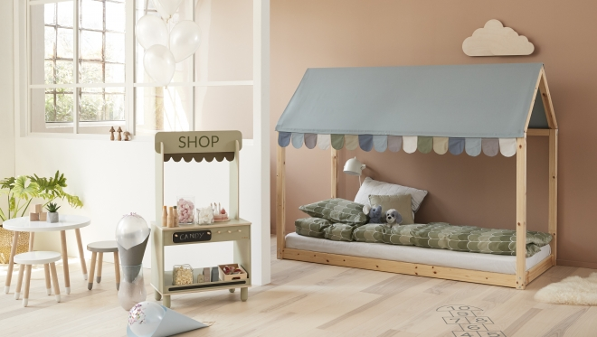 tissu pour toit de lit cottage flexa