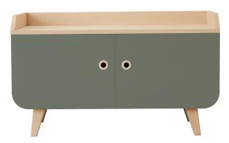 meuble bas laurette vert meuble tv et