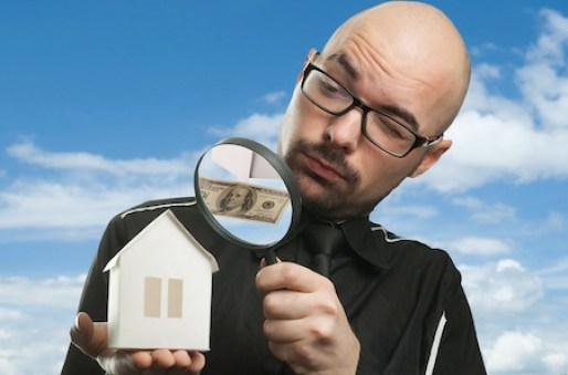 Real estate concept on a blue background