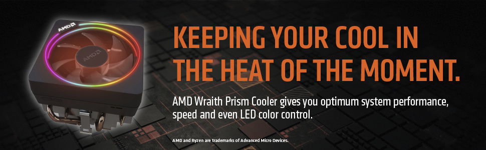 AMD Ryzen 7 2700X 8-Core Socket AM4 4 3GHz Desktop CPU Processor with  Wraith Prism Cooler