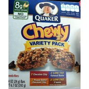 Quaker Chewy Granola Bars Variety Pack Calories