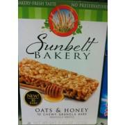 Sunbelt Bakery Oats Honey Chewy Granola Bars Calories