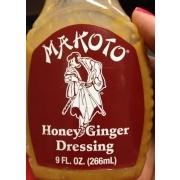 Makoto Honey Ginger Dressing Calories Nutrition Analysis