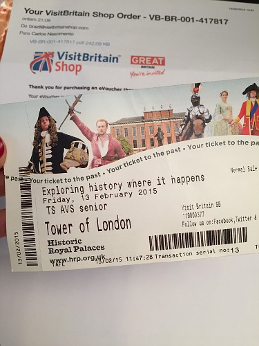 ingresso de atrações em Londres