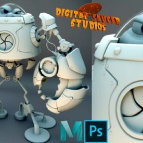 Modeling and Rendering a Robot in Maya 2020 Vol. 2