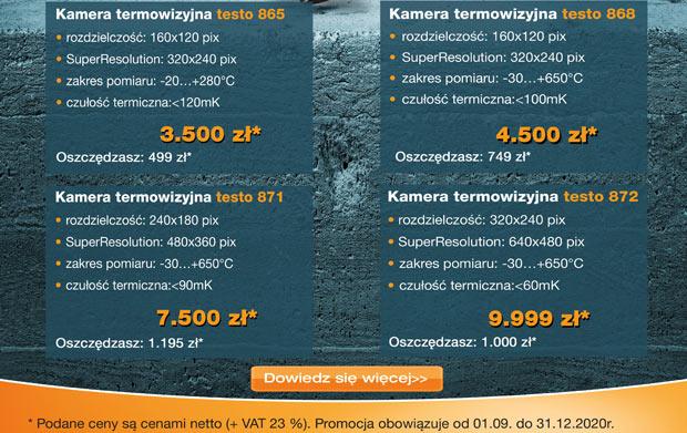 Dowiedz się więcej o kamerach termowizyjnych testo 865, testo 868, testo 871, testo 872