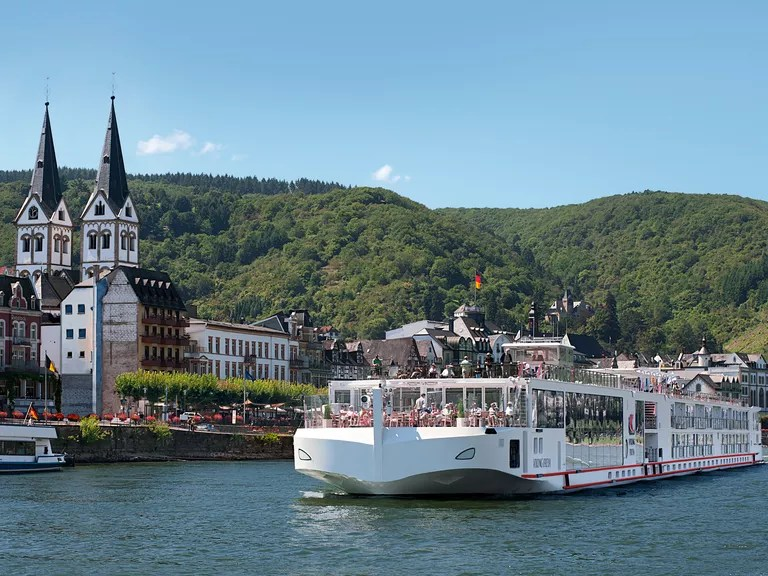 Victory cruise on the Rhine river