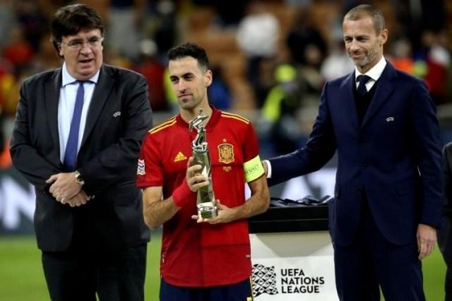Liga das Nações: Sergio Busquets sucede a Bernardo Silva como melhor jogador