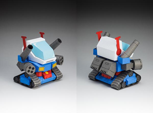 The 5cm Gundam Papercrafts Gadgetsin
