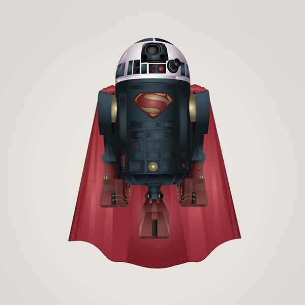 When Superheroes Meet Star Wars Droids Gadgetsin