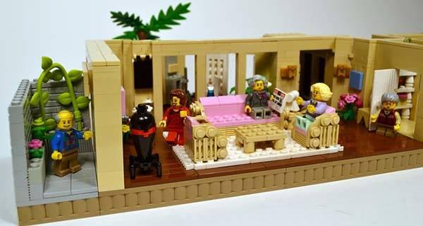 The Golden Girls Living Room And Kitchen LEGO Set Gadgetsin