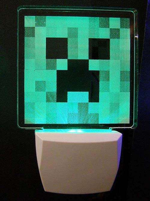 Minecraft Creeper Night Light Gadgetsin