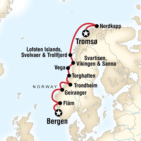 Norveç Fiyordları Gemi Turu