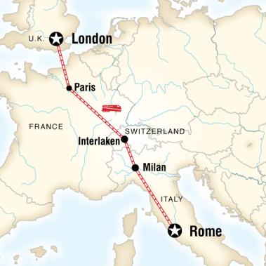 Avrupa Turu - İngiltere Fransa İsviçre İtalya