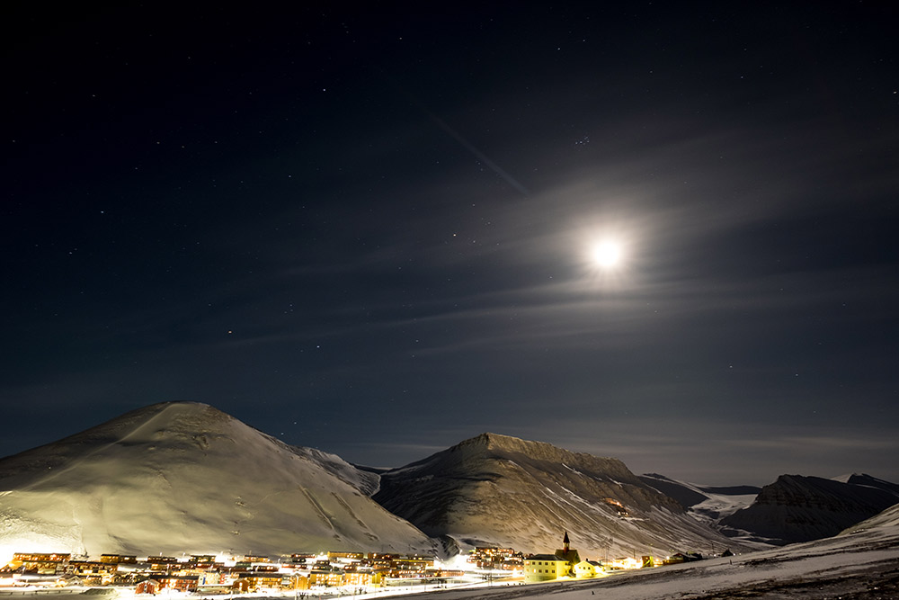 Once the sun sets in late October, the people of Longyearbyen won't see it again for months. Photo courtesy Frode R.