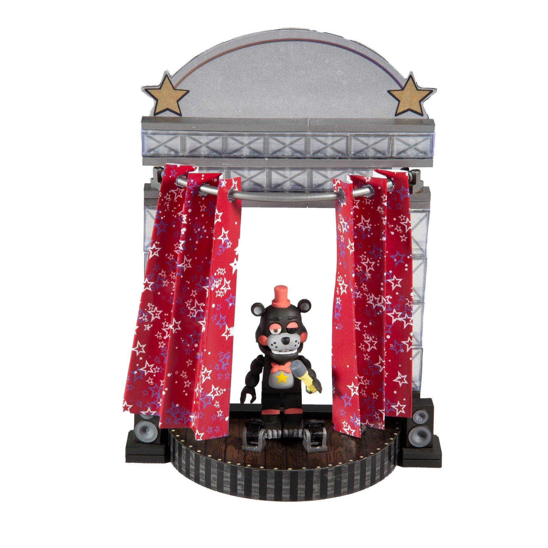 five nights at freddy s star curtain stage small construction set gamestop