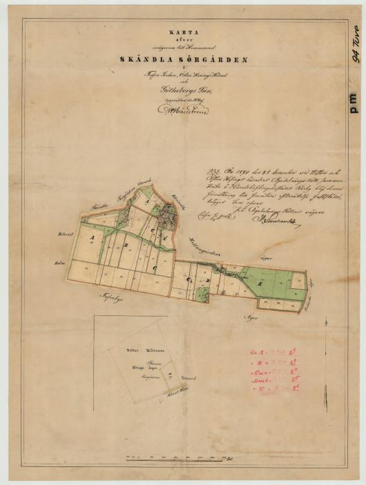 Skändla Sörgården 1870