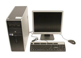 una computadora de escritorio