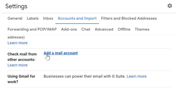 Importing mail