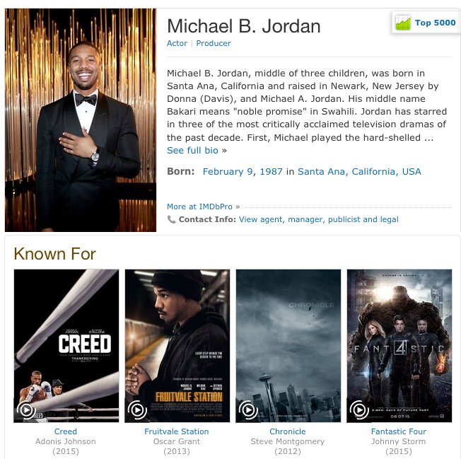 imdb.com, a database website about movies and tv shows