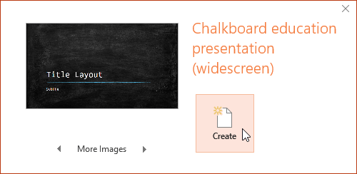 Creating a new presentation with a template - www.office.com/setup