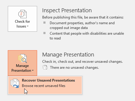 Recovering an unsaved file - www.office.com/setup