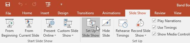 clicking Set Up Slide Show - www.office.com/setup