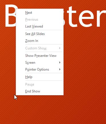 opening the Slide options menu - www.office.com/setup