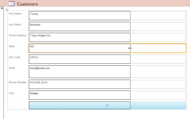 All of the selected fields are contained in one column, making it impossible to resize just one - www.office.com/setup