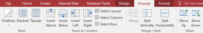 The commands on the Arrange tab - www.office.com/setup