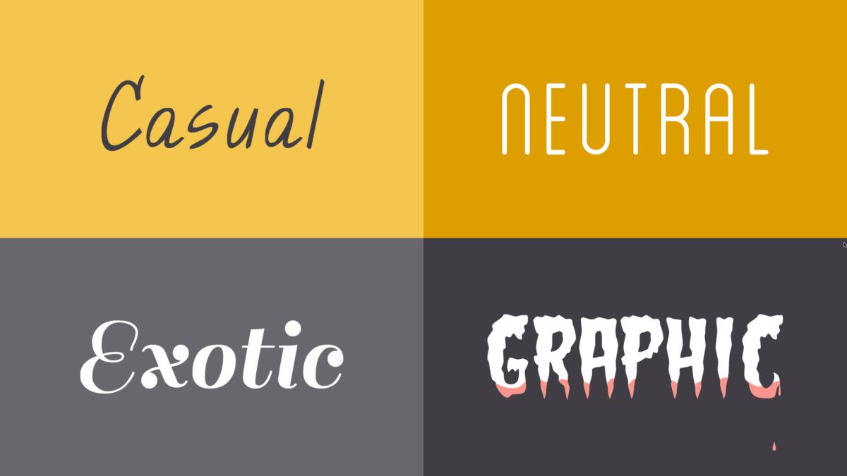 choosing a font style
