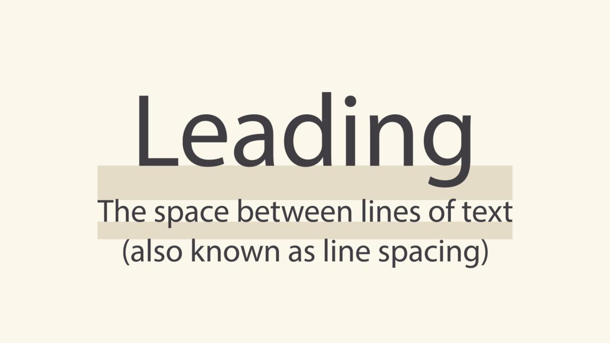 leading, or line spacing