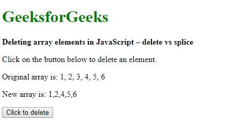 Delete the array elements in JavaScript | delete vs splice ...