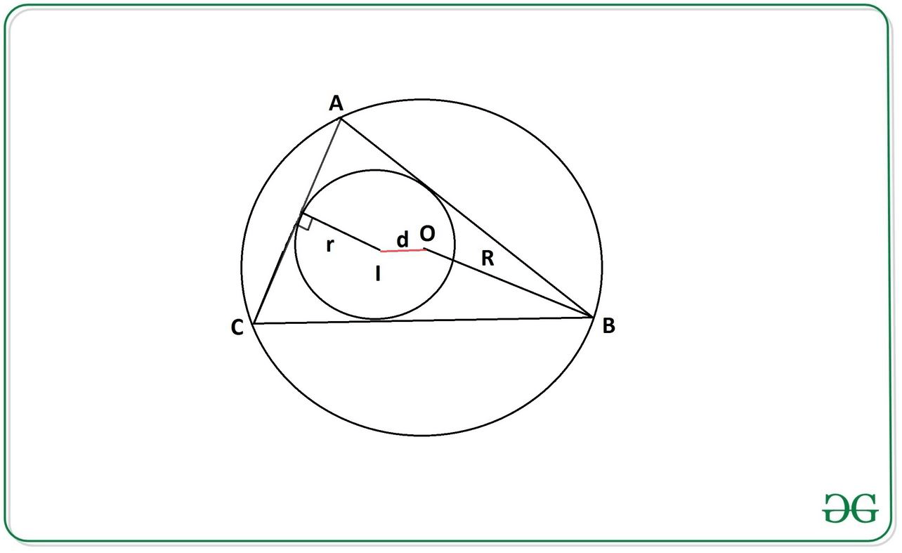 Distance Between Incenter And Circumcenter Of A Triangle