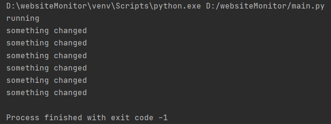 In a global python dictionary, using the url as a key; Python script to monitor website changes - GeeksforGeeks