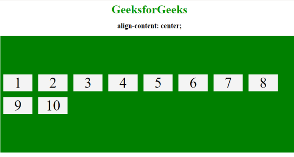 CSS | align-content property - GeeksforGeeks