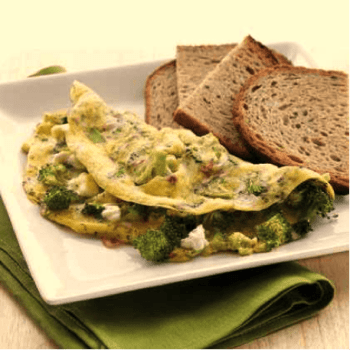 Brocoli and feta omelet