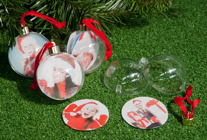 Create Your Own Photo Baubles 4 Pack