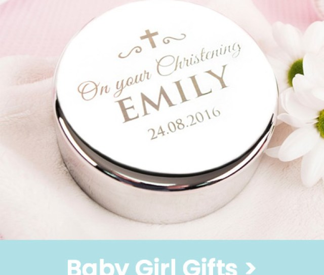 Personalised Baby Girl Gifts For Christenings