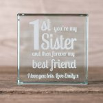 Personalised Glass Token Forever Best Friend Gettingpersonal
