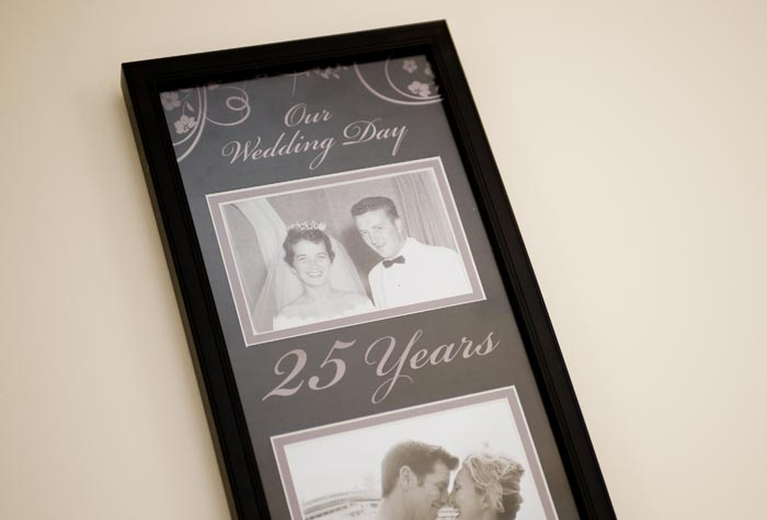 25th Anniversary Then Amp Now Frame Photo Frames From