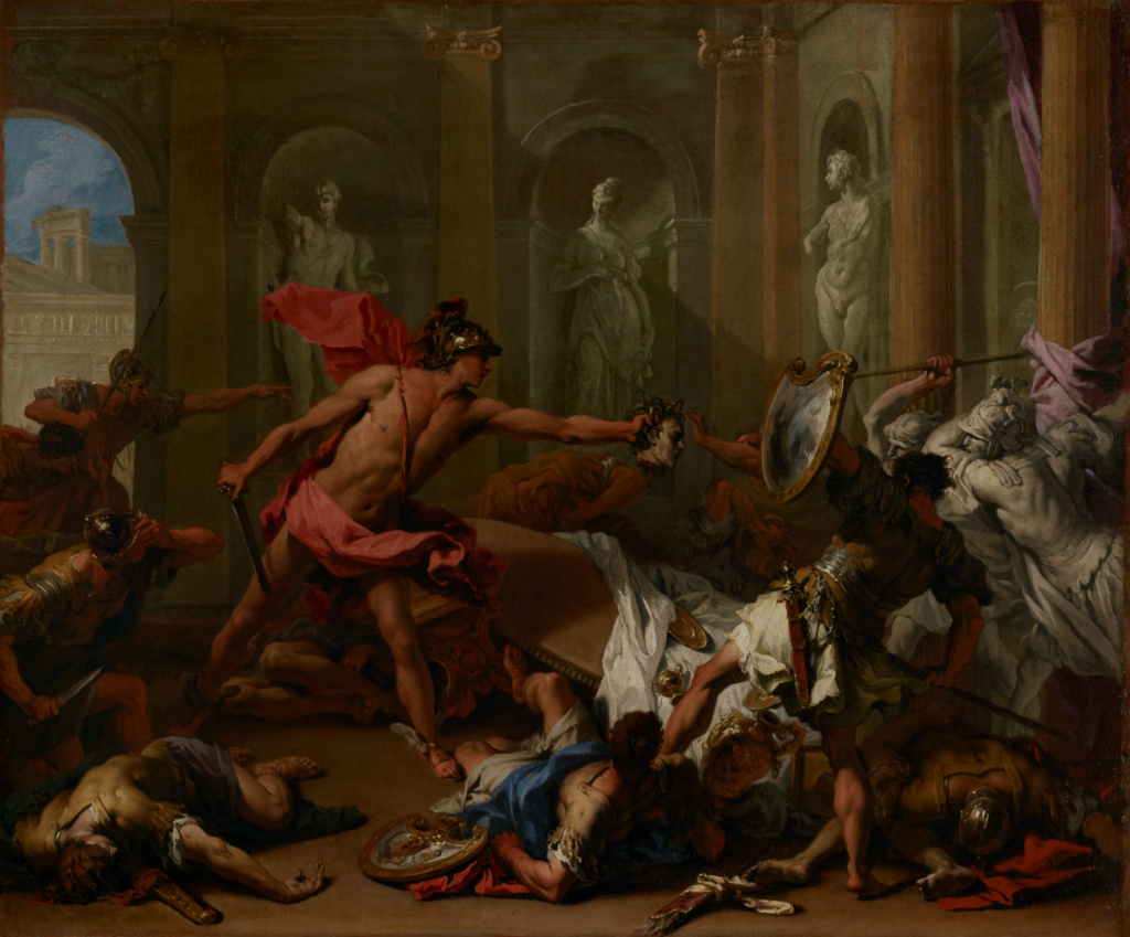 Perseus Confronting Phineus With The Head Of Medusa Getty